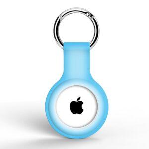 Silikon Schlüsselanhänger Halterung für Apple AirTag Babyblau