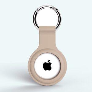 Silikon Schlüsselanhänger Halterung für Apple AirTag Beige