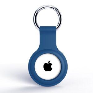 Silikon Schlüsselanhänger Halterung für Apple AirTag Dunkelblau