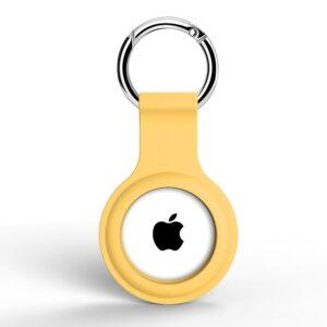 Silikon Schlüsselanhänger Halterung für Apple AirTag Gelb
