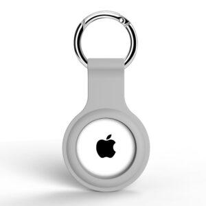 Silikon Schlüsselanhänger Halterung für Apple AirTag Grau