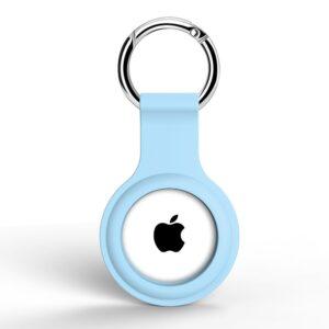 Silikon Schlüsselanhänger Halterung für Apple AirTag Hellblau