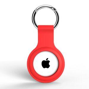 Silikon Schlüsselanhänger Halterung für Apple AirTag Rot