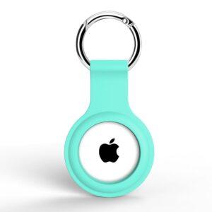 Silikon Schlüsselanhänger Halterung für Apple AirTag Türkis