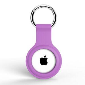 Silikon Schlüsselanhänger Halterung für Apple AirTag Violett