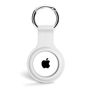 Silikon Schlüsselanhänger Halterung für Apple AirTag Weiss
