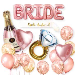 35 in 1 Folien Ballon Mega Set Bride Brautparty Pink