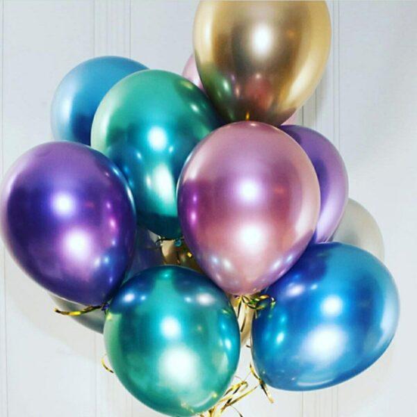 50 STK Metall Glanz Optik Latex Ballon 30cm Gold
