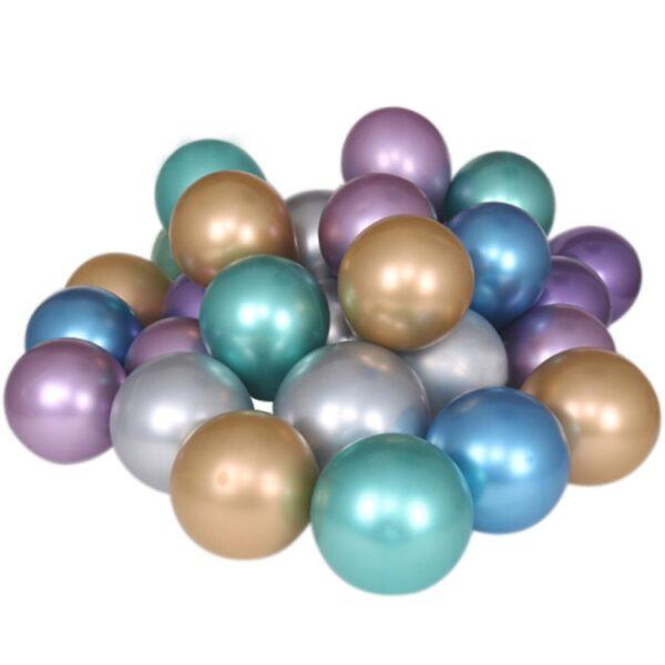 50 STK Metall Glanz Optik Latex Ballon 30cm Grün