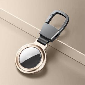Aluminium Magnetische Schlüsselanhänger Halterung für Apple AirTag Gold