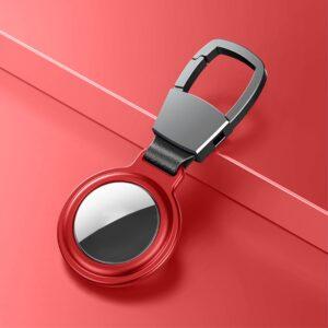 Aluminium Magnetische Schlüsselanhänger Halterung für Apple AirTag Rot