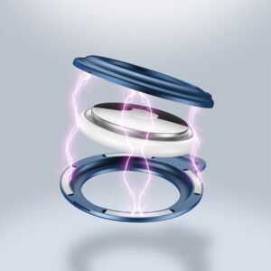 Aluminium Magnetische Schlüsselanhänger Halterung für Apple AirTag Schwarz