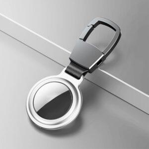 Aluminium Magnetische Schlüsselanhänger Halterung für Apple AirTag Silber
