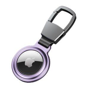 Aluminium Magnetische Schlüsselanhänger Halterung für Apple AirTag Violett