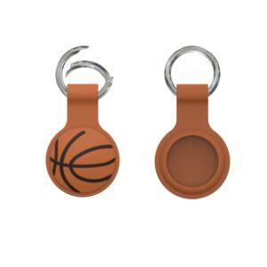 Silikon Schlüsselanhänger Halterung für Apple AirTag Basketball