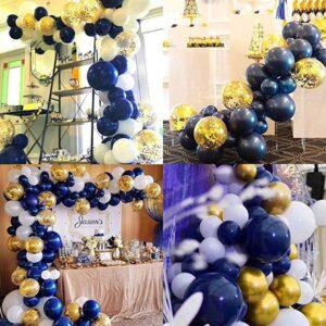109 in 1 Ballon Nacht Blau Deko Mega Set