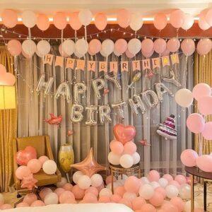 122 in 1 Happy Birthday Pink Ballon Mega Set