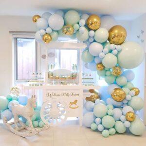 126 in 1 Welcome Baby Blau Ballon Mega Set