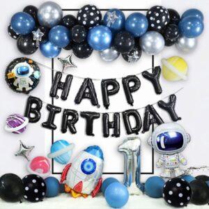 64 in 1 Happy Birthday Weltraum Astronaut Ballon Party Mega Set 2