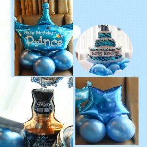 99 in 1 Happy Birthday Blau Ballon Mega Set