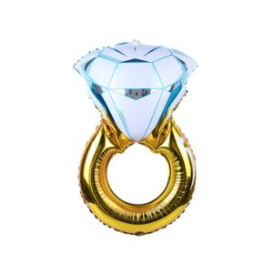 Folien Ballon XXL Diamant Ring 110cm