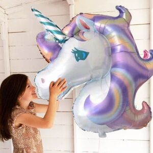 Folien Ballon XXL Einhorn Violett 110cm