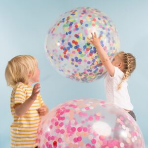 Konfetti Ballon XXL 90cm Bunt