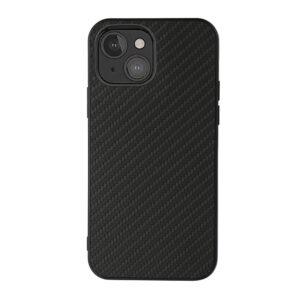 iPhone 13 Mini Slim Gummi Hülle TPU Carbon Optik Schwarz