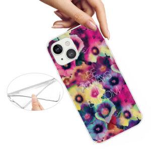 iPhone 13 Mini Super Slim Gummi Schutzhülle Bloom