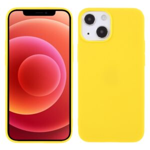 iPhone 13 Mini Super Slim Gummi Schutzhülle Gelb