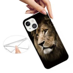 iPhone 13 Mini Super Slim Gummi Schutzhülle Löwe