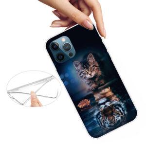 iPhone 13 Pro Max Super Slim Gummi Schutzhülle Katzenspiegel
