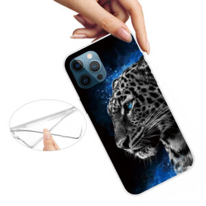 iPhone 13 Pro Max Super Slim Gummi Schutzhülle Leopard