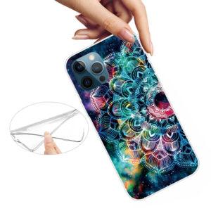 iPhone 13 Pro Max Super Slim Gummi Schutzhülle Mandala Bunt