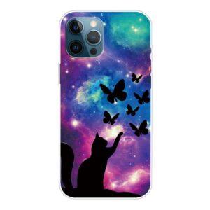 iPhone 13 Pro Max Super Slim Gummi Schutzhülle Schmetterlinge