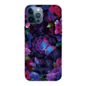 iPhone 13 Pro Max Super Slim Gummi Schutzhülle bunter Schmetterling