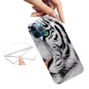 iPhone 13 Pro Super Slim Gummi Schutzhülle Weisser Tiger