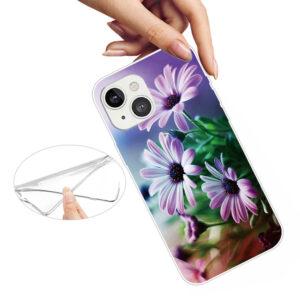 iPhone 13 Super Slim Gummi Schutzhülle Blumen