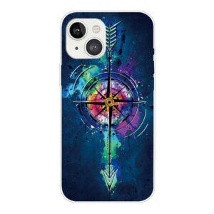 iPhone 13 Super Slim Gummi Schutzhülle Kompass