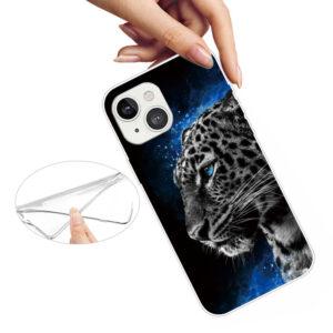 iPhone 13 Super Slim Gummi Schutzhülle Leopard