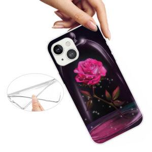 iPhone 13 Super Slim Gummi Schutzhülle Rose