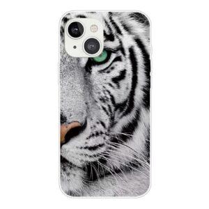 iPhone 13 Super Slim Gummi Schutzhülle Tiger