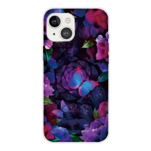 iPhone 13 Super Slim Gummi Schutzhülle bunter Schmetterling