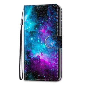 iPhone 13 Mini Buch Etui Tasche mit Kartenfach Galaxie