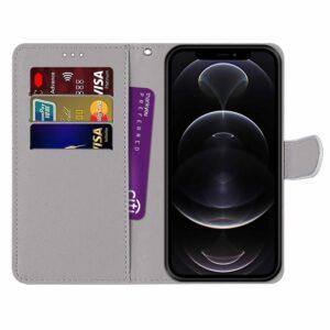 iPhone 13 Mini Buch Etui Tasche mit Kartenfach Limetten