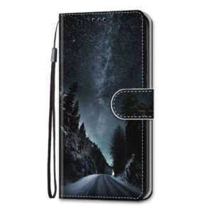 iPhone 13 Pro Buch Etui Tasche mit Kartenfach Nachthimmel